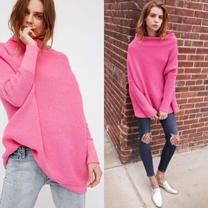 Free People Ottoman Slouchy Tunic in Electric Pink